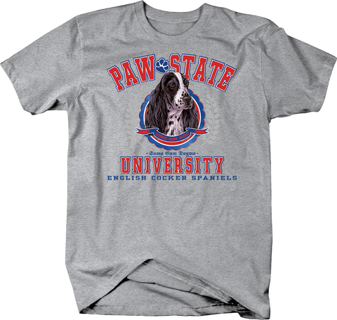 Paw State University English Cocker Spaniels Dog Shirt