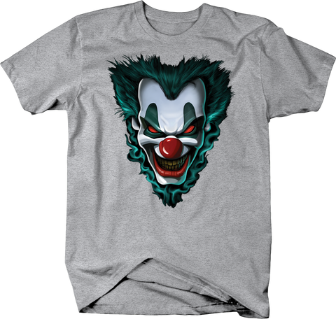 Scary Clown Head Smiling Staring at You with Red Eyes Shirt