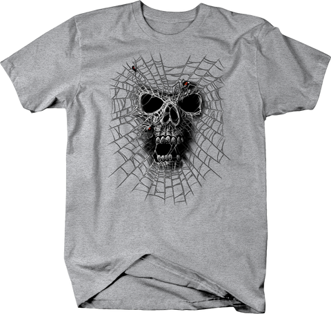 Skull head Caught in Black Widow Spider Web Shirt