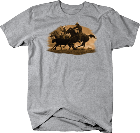 Cowboys Lassoing in Catle on Horseback Shirt