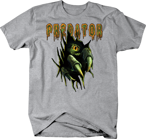 Predator Green Creature Claws Ripping Through Shirt
