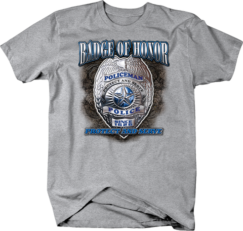Badge of Honor Police Badge protected and Serve Since 1626 Shirt