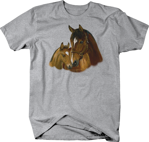 Horse and Foal Standing Together Head to Head Shirt