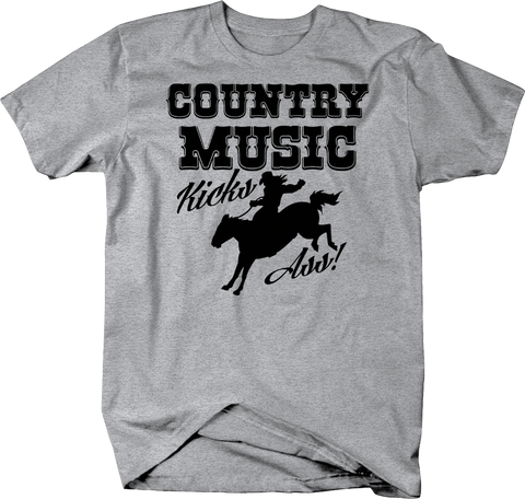 Cowboy Music Kicks Ass Cowboy Riding Horse Shirt America USA