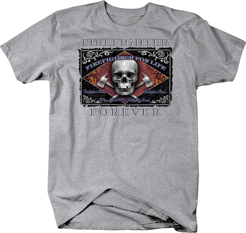 Firefighter Foreve Skull and Ax Shirt Fire Fighter USA