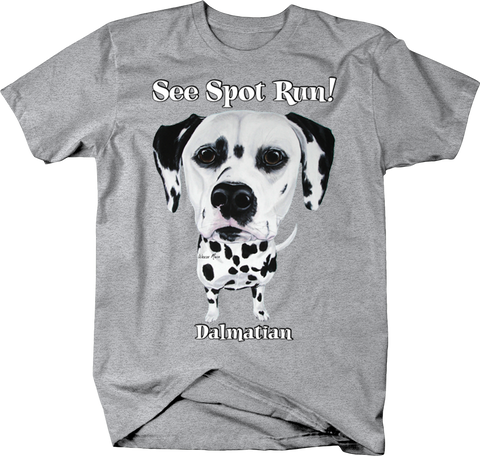 See Spot Run Dalmation Dog Puppy Cute Funny Happy Pet Woof