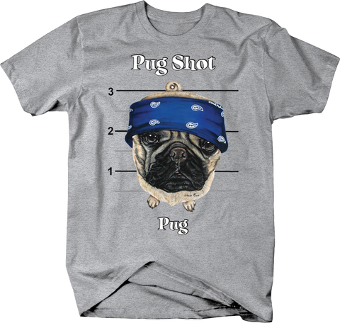 Pug Shot  Dog Puppy Cute Funny Happy Pet Woof Pug Life Mug Shot