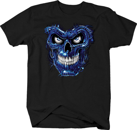 Evil Blue Eye Skull Looking at you Scary Spooky Haunted Demon