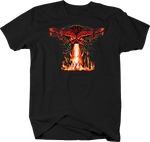 Fire Breathing Dragon Screaming People in Fire Evil Horror Scary Red Eye