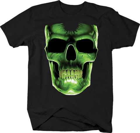 Evil Neon Green Skull Smiling Scary Horror Halloween