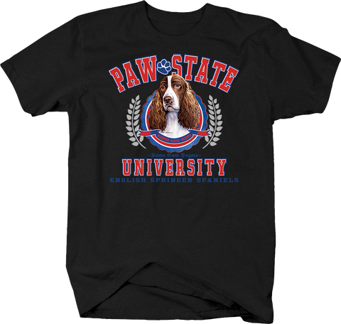 Paw State University English Cocker Spaniels Animal Lover Dog Puppy Bark Treat