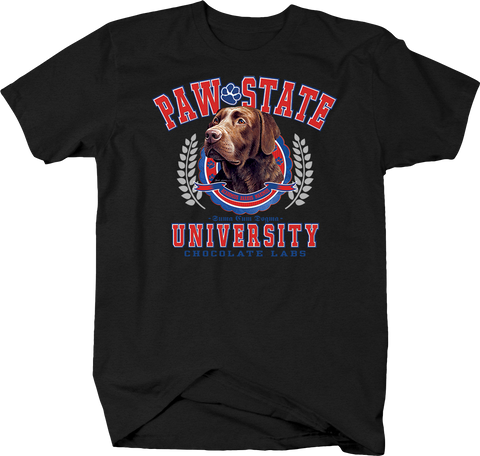 Paw State University Chocolate Labs Animal Lover Dog Puppy Bark Treat