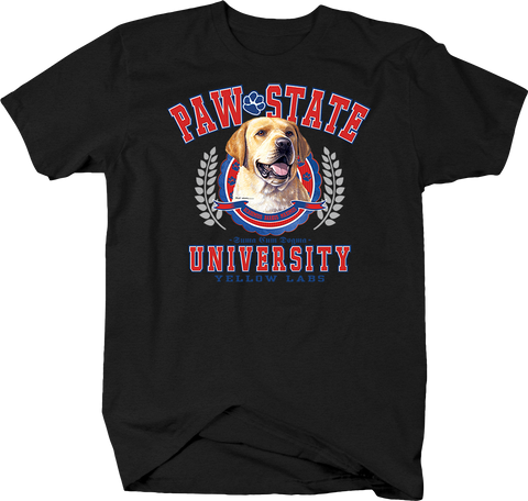 Paw State University Yellow Labs Animal Lover Dog Puppy Bark Treat Cute Family