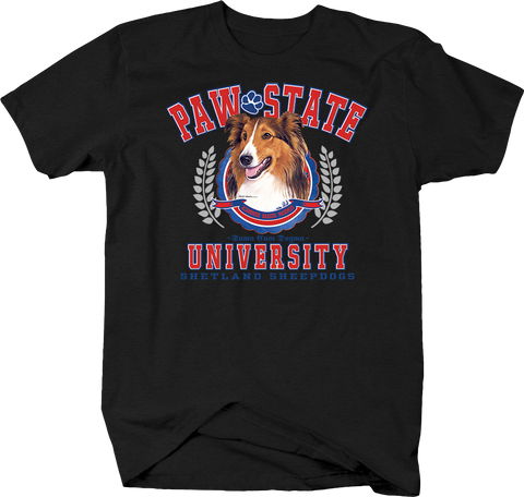 Paw State University Shetland Sheepdog Animal Lover Dog Puppy Bark Treat Cute