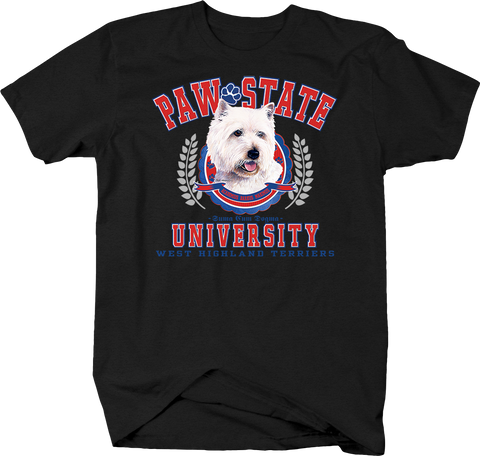 Paw State University West Highland Terriers Animal Lover Dog Puppy Bark Treat