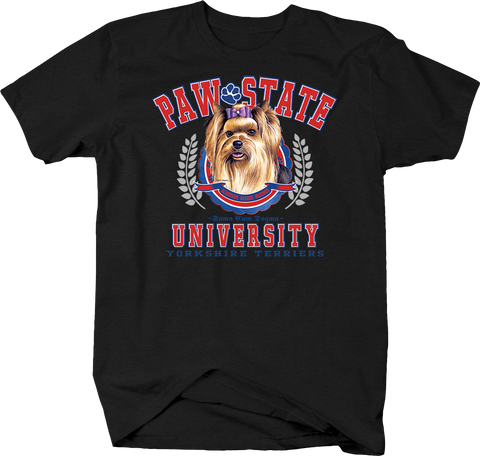 Paw State University Yorkshire Terriers Animal Lover Dog Puppy Bark Treat Family