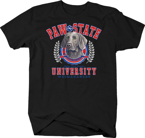 Paw State University Weimaraners Animal Lover Dog Puppy Bark Treat Family