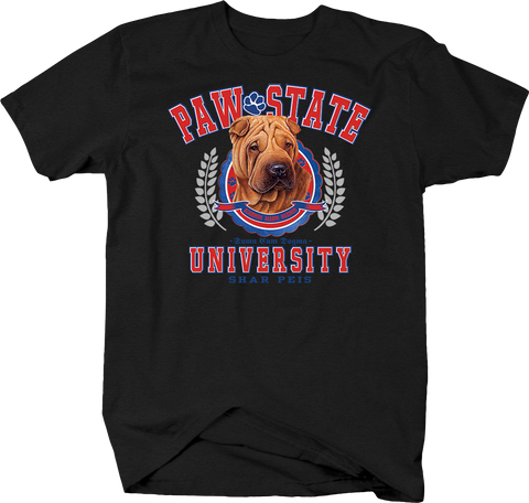 Paw State University Shar Peis Animal Lover Dog Puppy Bark Treat Family