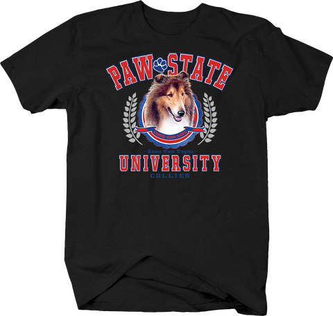 Paw State University Collies Animal Lover Dog Puppy Bark Treat Family