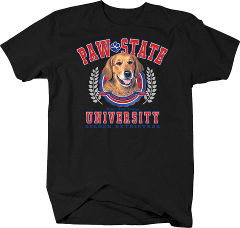 Paw State University Golden Retrievers Animal Lover Dog Puppy Bark Treat Family