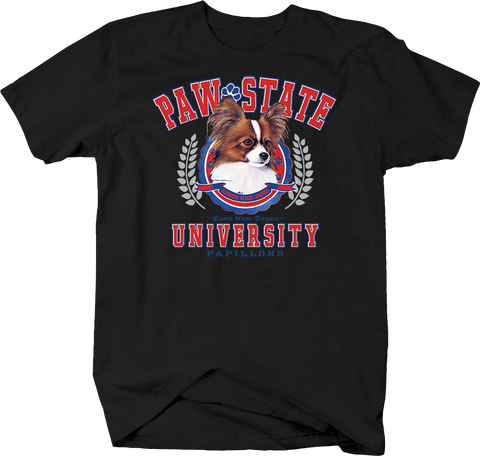 Paw State University Papillons Animal Lover Dog Puppy Bark Treat Family