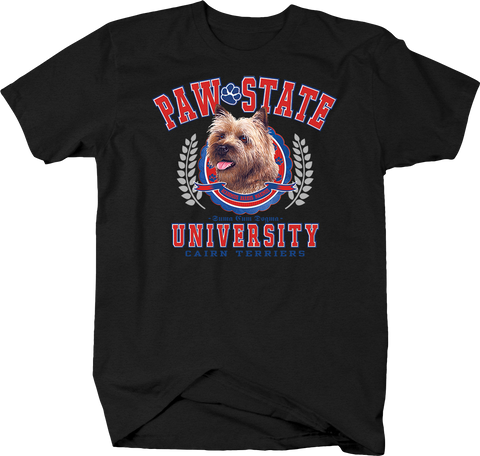 Paw State University Cairn Terriers Animal Lover Dog Puppy Bark Treat Family