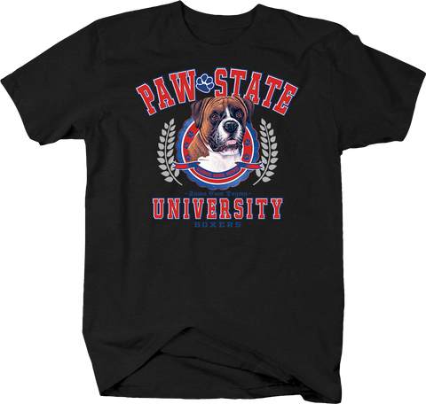 Paw State University Boxers Animal Lover Dog Puppy Bark Treat Family