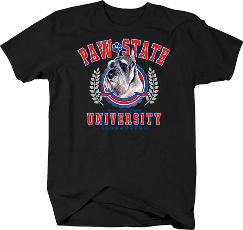Paw State University Schnauzers Animal Lover Dog Puppy Bark Treat Family