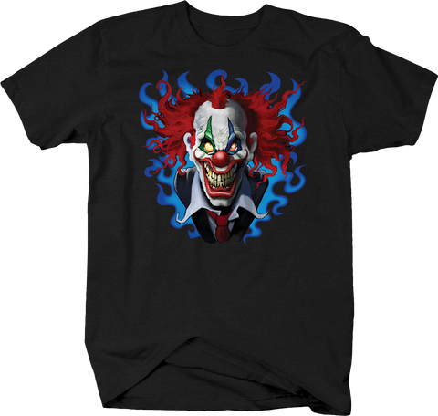 Evil Clown Looking at you Crazy Red Hair Spooky Scary Horror