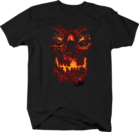 Red Fire Burning Skull Face Evil Horror Scary Spooky