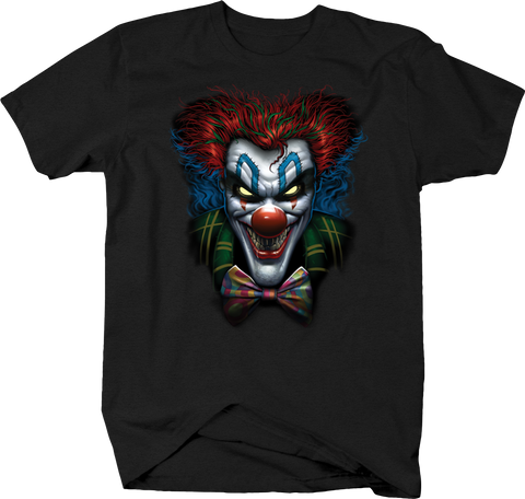Evil Clown Looking at you Crazy Red Hair Green Plaid Suit
