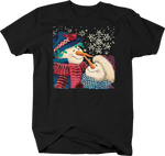 Snowmen Touching Tips of Carrot Nose Love Winter Scarf Red Robbin