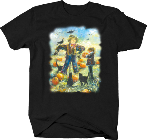 Scarecrow Pumpkin Patch Black Cat Black Cat Crows Field Crops