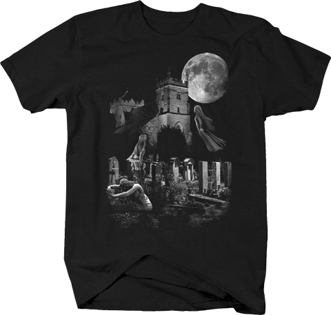 Haunted Castle Graveyard Ghost Night Life Moonlight Spooky