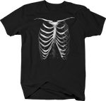 Skeleton Rib Cage Anatomy Haunted Spooky Freaky Scary Halloween