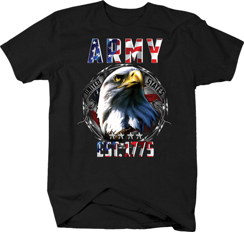 United States Army Est. 1775 American Bald Ealge USA Flag Freedom