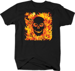White Skull Flames Horrow Scary Spooky Fear Burn Anatomy