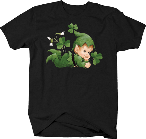 Little Dreesed as Leprechaun Lucky Three Leaf Clover Irsh Kids