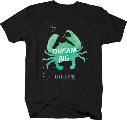 Dream Big Little One Crab Ocean Salt Water Sand Seashell Starfish