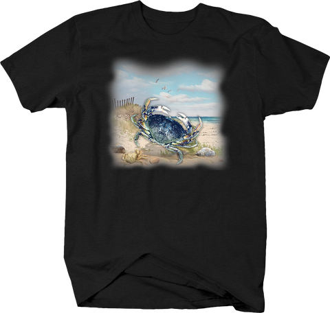Blue Crab Ocean Beach Sand Waves Summertime Fishing Big Catch