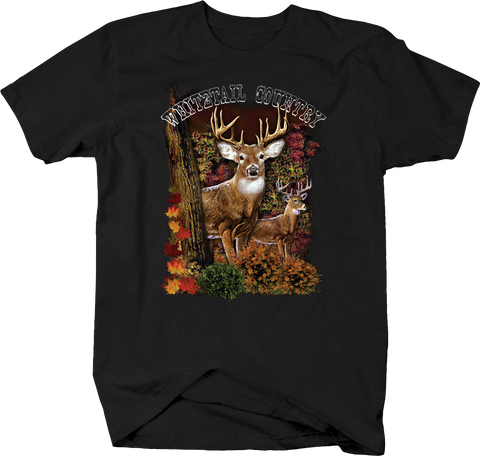 Whitetail Country Big Buck Deer Hunting Wildlife Forest Nature