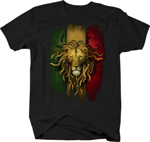 Rasta Lion Head with Dreadlocks Peace Love King of Jungle Jamaica