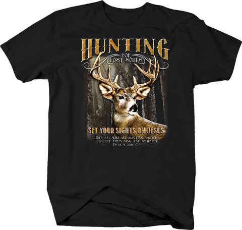 Hunting For Souls Set Sights on Jesus  Psalm Faith Hope Deer