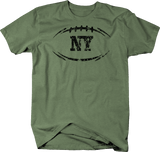 Distressed - NY NEW YORK Football Flag Tackle Home Team Edition