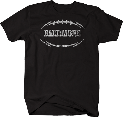Distressed - BALTIMORE Football Flag Tackle Home Team Edition