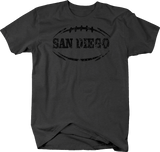 Distressed - SAN DIEGO Football Flag Tackle Home Team Edition