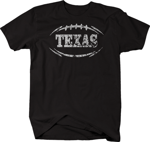 Distressed - TEXAS Football Flag Tackle Home Team Edition
