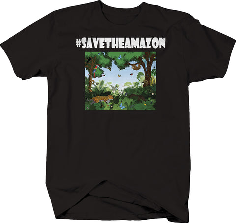 Hashtag Save the Amazon Cartoon T-Shirt