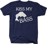 Kiss My Bass Fishing Bait Funny Boating