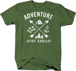 Adventure Just Ahead Camping Woods Anchor Stars Boating Hunting Outdoors